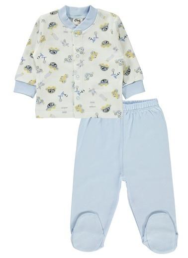 Civil Baby Erkek Bebek Pijama Takımı Mavi
